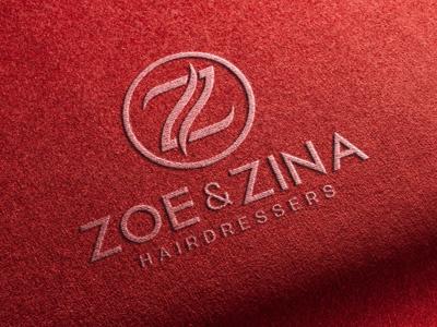 Logo Design for Hairdressers logo mockup graphic designer logo design identity showcase realistic photorealistic mock-up stitching graphicriver logo stitched