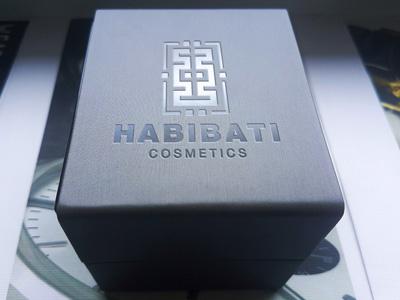 Logo Design for Habibati Cosmetics logo mockup graphic designer logo design packaging showcase realistic photorealistic mock-up identity graphicriver logo engraved