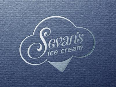 Sevan's Ice Cream Logo Design