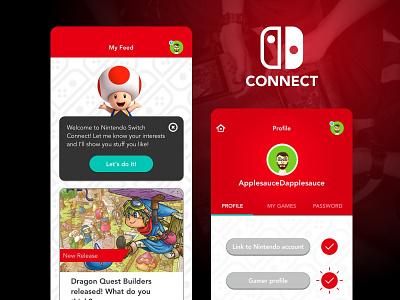 Social App Newsfeed and Settings social mobile-app-design ui-design nintendo switch nintendo ux uiux ui feed
