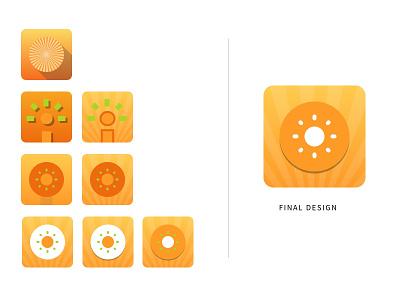 Gratitude Journal App Icon Variations ios brand mobile icon ui app