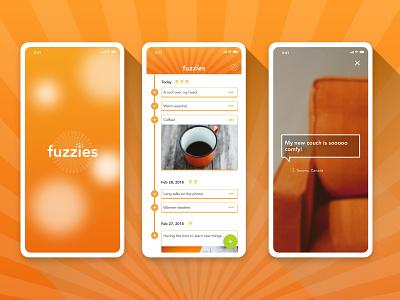 Gratitude Journal App Concept journal gratitude interface design mobile ios ux app ui