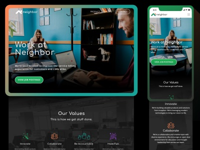 Responsive Careers Page unsplash culture careers layout web web design brand responsive website