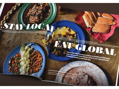 Global foods editorial layout