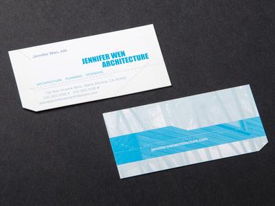Jennifer Wen Architecture business cards