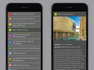 ArcTours app UI