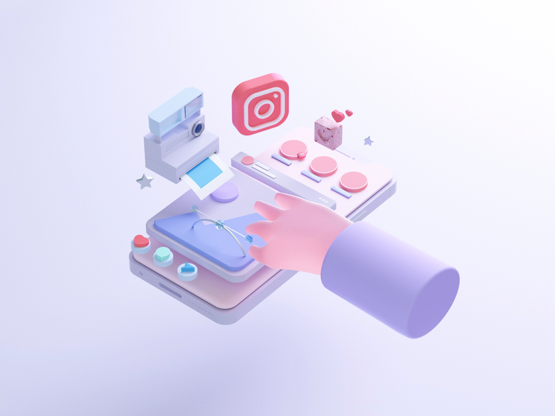 C4D illustration—ins c4d web design