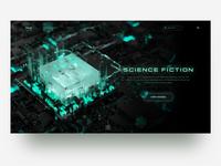Tech style c4d webdesign ui 2020 octane c4d design