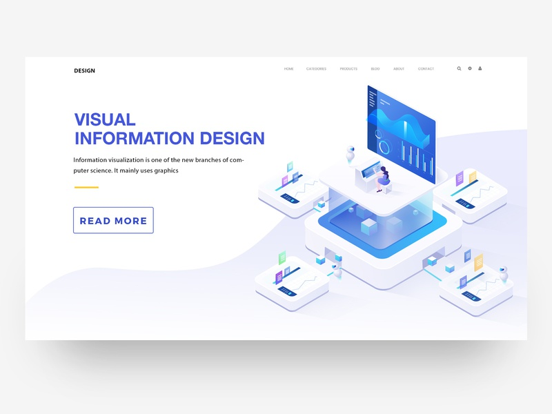 Visual information illustration 2018 ui design web illustration