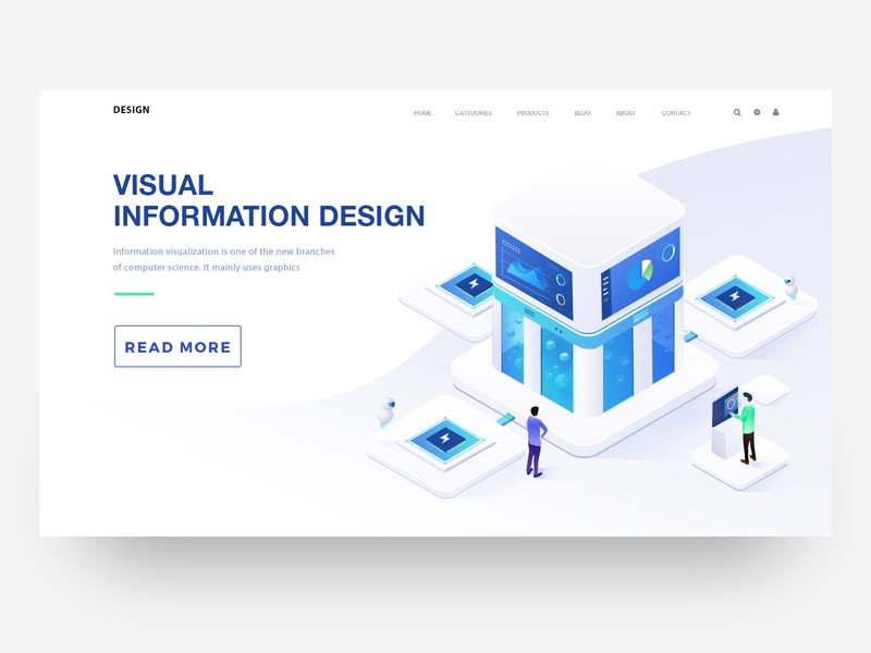 Visual information illustration 2 illustration design 2018 web ui