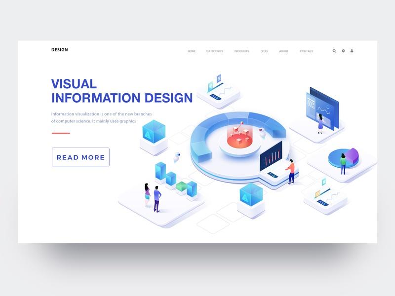 Visual Information Illustration 3 2.5d 2018 illustration web design ui