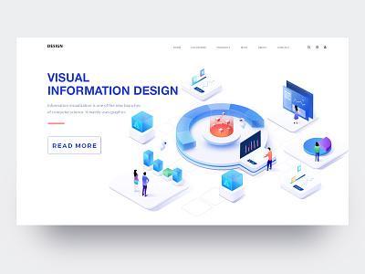 Visual Information Illustration 3 2.5d 2018 illustration web design ui