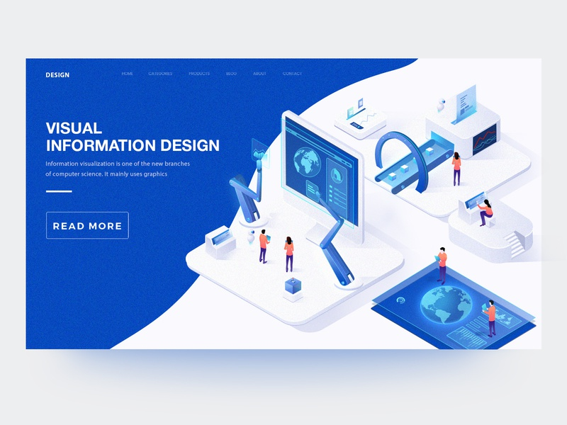 Visual Information Illustration 4 2.5d 2018 web illustration design ui