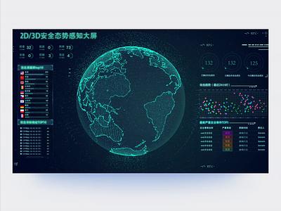 Visualization Design of Large Screen 2019 web big data visual design ui design