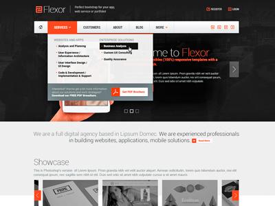 Flexor - Responsive theme responsive flexor themelize.me blazon ui design