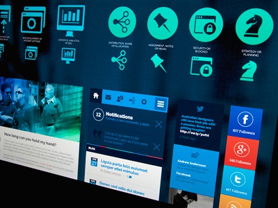 Firmattic - Corporate UI-Bundle blazon ui design flat ui-kit alex wendpap corporate blue blazon design bureau screendesign