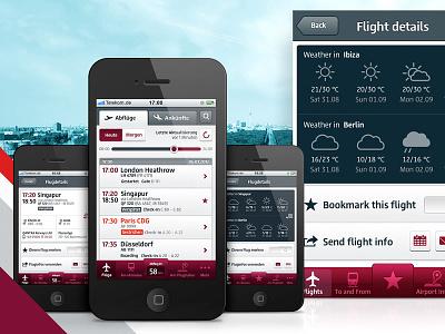 Berlin Airport iPhone app 2012 mobile ui