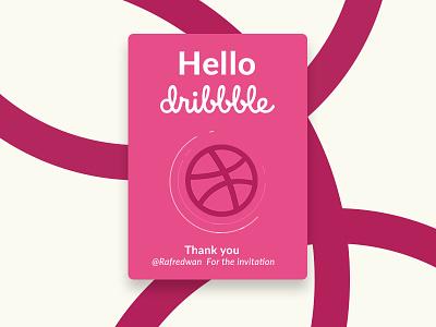 Hello Dribbble! rafredwan thankyou thanks shot invite invitation first dribbble debute