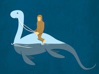 Bigfoot Riding Nessie