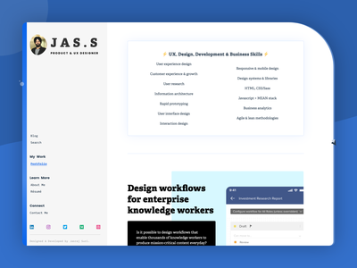 Personal portfolio minimal jekyll website static portfolio personal