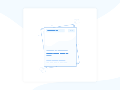 Resume Icon Illustration blue document resume icon illustration design