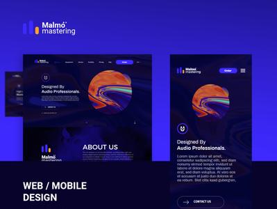 Malmo mastering project mark texture colorful logo matering malmo music minimal website web ux app illustration flat design