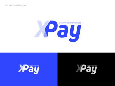 Xpay unofficial rebranding illustrator lettering type illustration vector minimal branding icon logo flat rebranding
