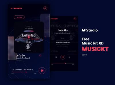 musickt - first music kit for XD - soon music app music kit music ui  ux design uidesign ui kit ui ux kit