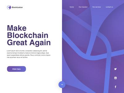 blocklization - Landing Page website illustration design web ux ui