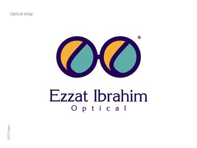 Ezzat Ibrahim Optical - Logo Design illustration type vector icon logo brand and identity branding brand design ezzat ibrahim green optician optical illusion graphic design optical art glasses optical