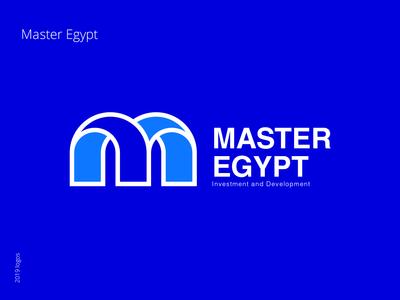 Master Egypt - branding egypt master egypt logo a day blue and white blue blue bird design type typography flat vector icon branding logo real estate branding real estate agency real estate