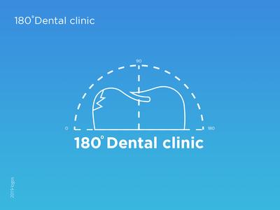 180 Dental Clinic logotype branding typography flat vector icon illustration logo dental care dental clinic dental logo dental