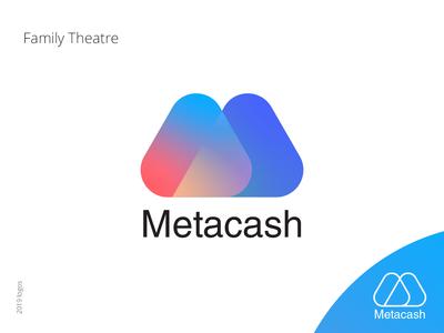 MetaCash logo mob logo a day design logo mobile logo app logo meta cash cash meta blockchain vector logo mobile app