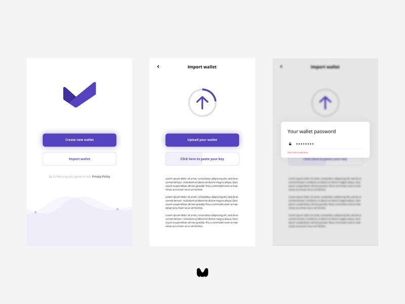 metacash mobile app UI  -2 icon web animation website blockchain app ux ui flat logo vector illustration design