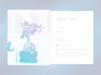 Sign up form for Daily UI calm soft digital modal interface user ui