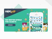Game2up design and illustration header