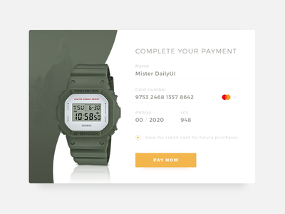 Daily UI 002 / Credit Card Checkout form credit card mod checkout form user interface ui daily