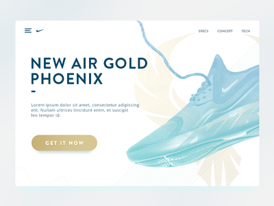 Product landing page DailyUI 003 concept shoes nike button product page landing
