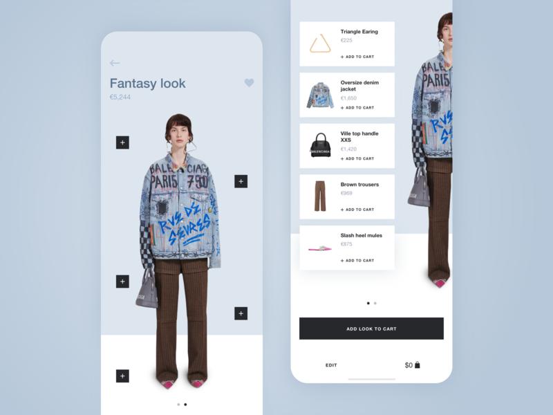 New shopping experience app UI shopping shop look fashion app fashion typography ux ui ios flat design cards ui app