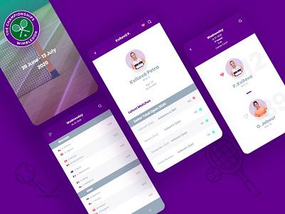 Wimbledon mobile ui webdesign mobile app mobile design colors vector branding ux ui art design graphic design
