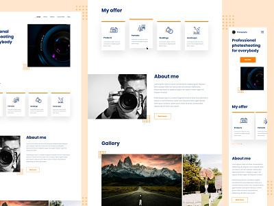 Photo shooting websites hobby logo colors branding ux ui graphic design design web web design webdesign website