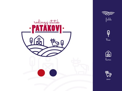 Family farm logo logo designer logo design typography colors icon vector illustration branding logo design graphic design