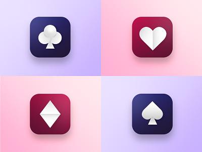Playing cards symbols drawing illustration flat design minimalistic minimal ui vector colors art icon clean design graphic design design