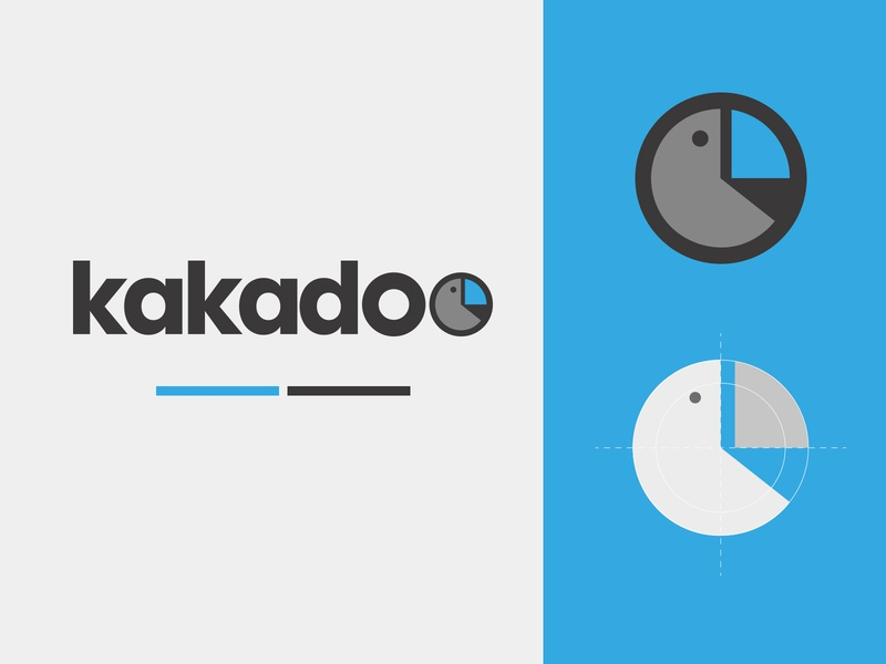 Kakadoo logo blue illustration art logo design logotype logo vector branding design graphic design