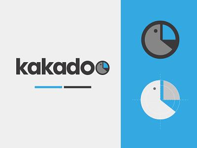 Kakadoo logo blue illustration art logo design logotype logo vector branding design graphic design