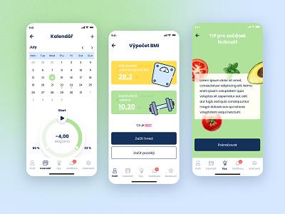 Keto diet App eat app diet mobile mobile app food healthy health ux vector colors ui vegetable graphic design