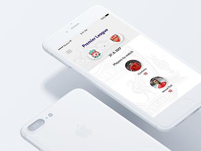 Dribble uxui soccer graphic design design mobile app