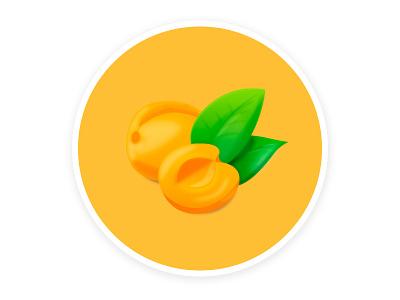 Apricot fun illustrator hobby colors fruits illustration vector graphic design design