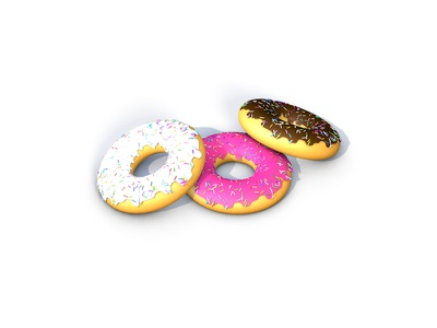 Donuts food donuts colors hobby 3ddesign graphic design design
