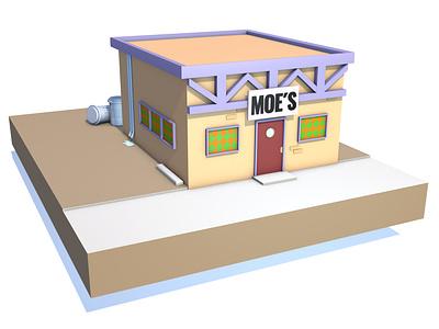 Moe´s bar fun hobby art colors cinema 4d design graphic design 3d design 3d artist 3d art 3d